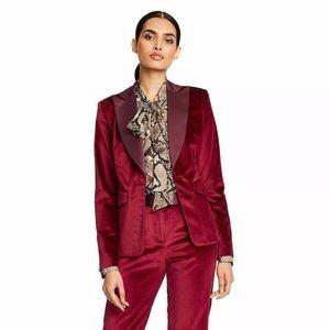 NWT Altuzarra for Target Red Tuxedo velvet Blazer